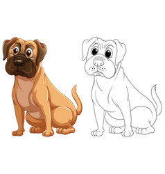 animal outline for cute dog vector image
