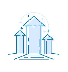 arrows pointing upwards thin line design concept vector image