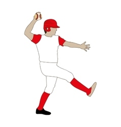 baseball player icon image vector image