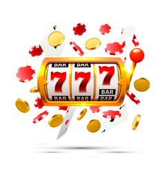 Big win slots 777 banner casino background vector