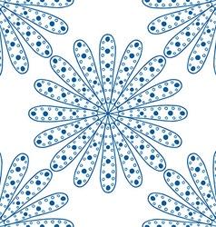 Blue Floral Patterned Background vector image