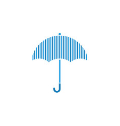 blue lines umbrella graphic design template vector image