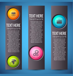 Business infographic vertical banners vector