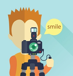 Camera and tool flat design vector