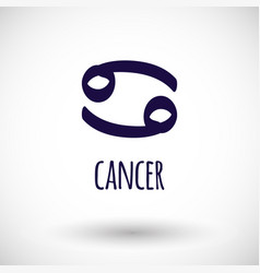 Cancer zodiac sign icon vector
