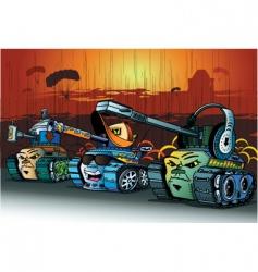 cartoon tanks vector image