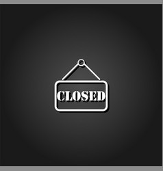 closed plate icon flat vector image