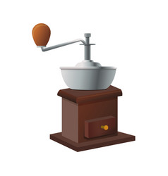 coffee grinder isolated vector image