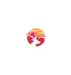 Colorful deer logo design vector