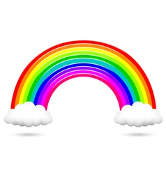 Colorful rainbow and clouds vector