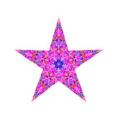 Colorful triangle mosaic ornament star logo vector