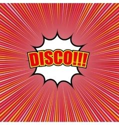 Comic disco template vector image