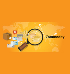 Commodity trading market investment concept in vector