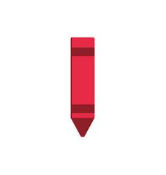 crayon color art draw education school icon design vector image