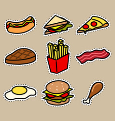 cute food icon sticker vector image