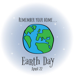 earth day eco friendly ecology concept world vector image