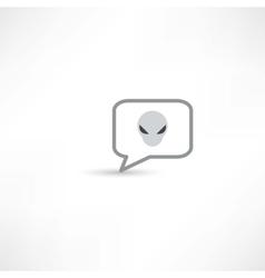 Extraterrestrial in a bubble speech vector