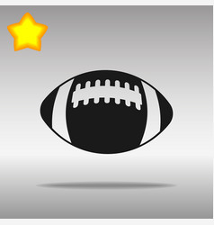 football black icon button logo symbol vector image
