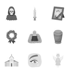 funeral ceremony cemetery coffins priest vector image