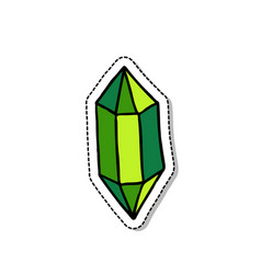 gem doodle icon vector image