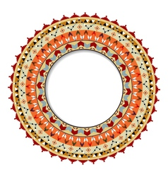 Geometric decorative element in the Mexican style vector