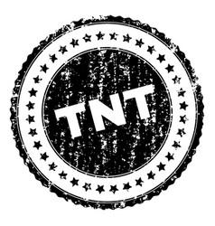 Grunge textured tnt stamp seal vector