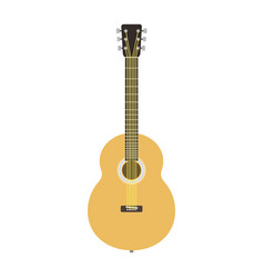 Guitar icon stringed musical instrument classical vector