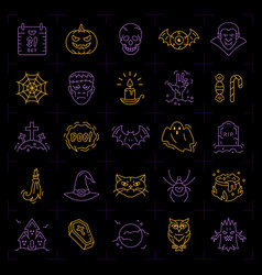 Halloween icon set colorful halloween icons on an vector