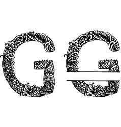Hand drawn letter g vector