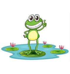 Happy Cartoon Frog vector image