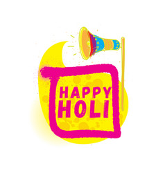 happy holi indian festival of colors vector image