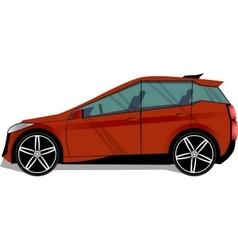 Hatchback red car vector