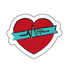 Heart cardiology symbol icon vector