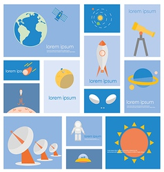 Icon Astronomy Space Science vector image