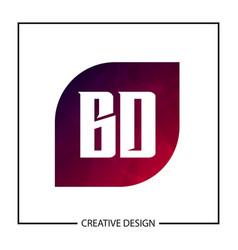 Initial letter bd logo template design vector