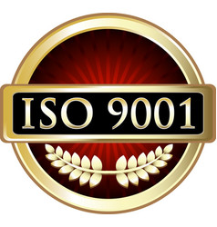 Iso 9001 icon vector