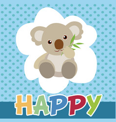 Koalas cute smile and happy vector
