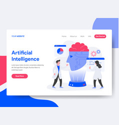 landing page template of artificial intelligence vector image