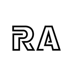 letter r and a contour line logo simple style vector image