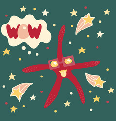 lovely with a starfish vector image