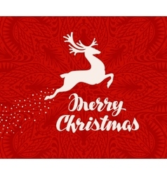 Merry Christmas greeting card Silhouette of vector