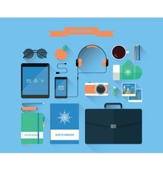 modern workspace and equipment vector image