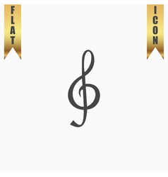 Music note Sheet key vector image