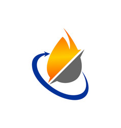 oil and gas logo vector image