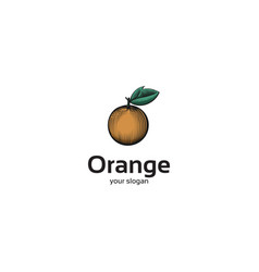 orange line art logo vector image
