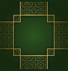 Ornamental background with square crosswise frame vector
