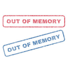Out of memory textile stamps vector