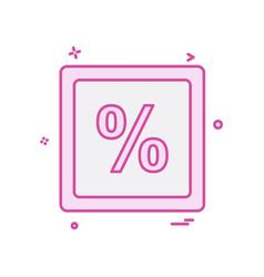 Percentage icon design vector