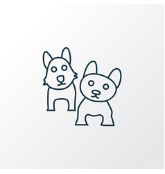 pets icon line symbol premium quality isolated vector image