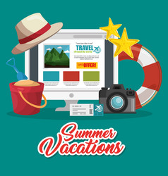 planning summer vacation design vector image